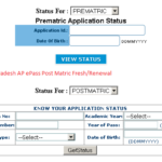 AP ePass Andhra Pradesh Post Matric Fresh/Renewal Scholarship Application Status 2016-17: apepass.cgg.gov.in