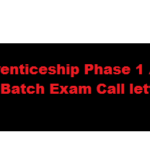 OFB Trade Apprenticeship Phase 1 Admit Card 2017 55th Batch Exam Call letter Download