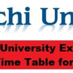 Ranchi University Exam Date Sheet/Time Table Part 3 2017 BA/BSC/BCOM (Part-III) www.ranchiuniversity.ac.in