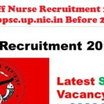 UPPSC Staff Nurse Recruitment 2017 Apply Online @ uppsc.up.nic.in Before 20/03/2017