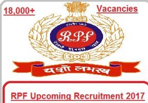 RPF Recruitment 2017 Apply RPSF