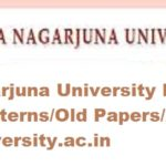 Acharya Nagarjuna University Results 2017-18 - Exam Patterns/Old Papers/Admit Card at nagarjunauniversity.ac.in