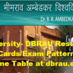 Agra University- DBRAU Results 2017-18 Admit Cards/Exam Pattern/Old Papers/Time Table at dbrau.org.in
