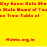 HSBTE May Exam Date Sheet 2017 Haryana State Board of Technical Education Time Table at Hsbte.org.in