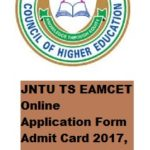 JNTU TS EAMCET Online Application Form Admit Card 2017, Hall Ticket, Date of Exam at tseamcet.in