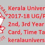 Kerala University Result 2017-18 UG PG IDE 1st, 2nd, 3rd Year Exam Admit Card, Time Table at keralauniversity.ac.in