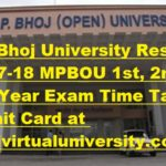 MP Bhoj University Result 2017-18 MPBOU 1st, 2nd, 3rd Year Exam Time Table, Admit Card at bhojvirtualuniversity.com
