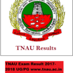 TNAU Exam Result 2017-2018 UG PG www.tnau.ac.in Tamil Nadu Agricultural University Syllabus