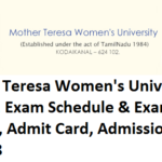 Mother Teresa Women's University Results, Exam Schedule & Pattern, Admit Card 2017-18