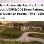 Nagaland University Results, Admit Card, Syllabus, Exam Pattern, Model Question Papers 2017-18