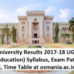 Osmania University Results 2017-18 UG/PG Syllabus, Exam Pattern, Admit Card at osmania.ac.in