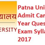 Patna University Results, Admit Card, Previous Year Question Paper, Exam Syllabus & Pattern 2017