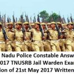 TN Police Constable Answer Key 2017 TNUSRB Jail Warden Exam Solution