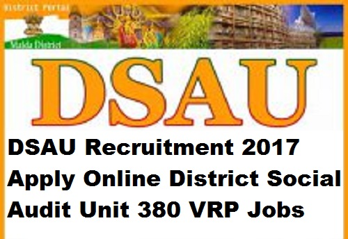 DSAU Recruitment 2017 Apply Online District Social Audit Unit 380 VRP Jobs
