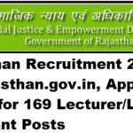 SJE Rajasthan Recruitment 2017, sje.rajasthan.gov.in, Apply Online for 169 Lecturer/Lab Assistant Posts