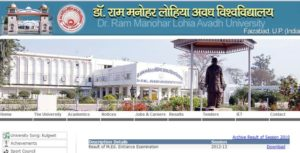 RMLAU Avadh University All Exam Result 2016 – 2017 www.rmlau.ac.in