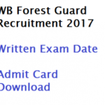 WB Forest Guard 2017 Hall ticket Download at wbprb.applythrunet.co.in