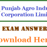 PAIC Answer Key 2017 Punjab Agro Clerk Assistant Solutions Download
